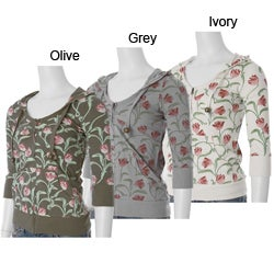 Starling Junior's Floral Print French Terry Hoodie