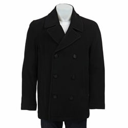 Marc New York Men's 'Murphy' Italian Wool Blend Black Peacoat