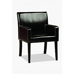 Jovita Bi-cast Leather Chair Black.