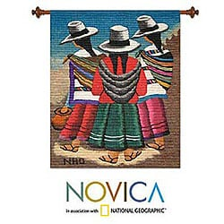 Wool 'The Travelers' Tapestry (Peru)