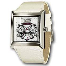Haurex Italy Escape Women's White Leather Watch