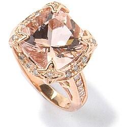 Michael Valitutti 14k Gold Morganite, 1/3ct TDW Diamond Ring