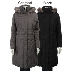 Calvin Klein Women's Hooded Down Walker Coat