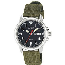 Citizen Eco-Drive Men's Canvas Strap Watch