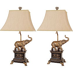 Safari Elephant Lamps (Set of 2)