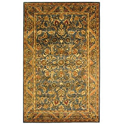 Safavieh Handmade Exquisite Blue/ Gold Wool Rug (4' x 6')
