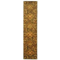 Safavieh Handmade Tabriz Olive Wool Runner (2'3 x 10')