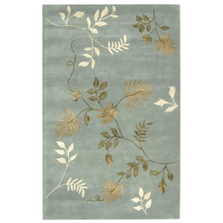 Safavieh Handmade Soho Twigs Light Blue New Zealand Wool Rug (3'6 x 5'6)