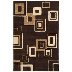 Handmade Soho Gala Brown/ Beige New Zealand Wool Rug (8'3 x 11')