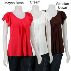 August Silk Women's Pleated Top