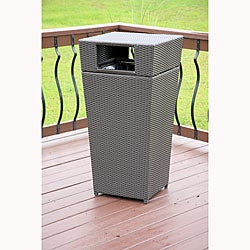All-weather PE Resin Wicker Trash Can