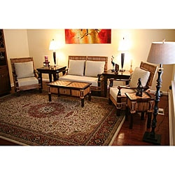 Malta Natural Rattan Wicker 4-piece Seating Set