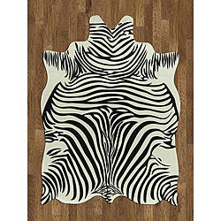 Zebra Hide Polyproplene Rug (5' x 7')