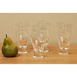 Nambe Motus 4-piece Highball Glass Set