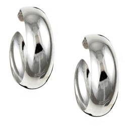 Sterling Essentials Sterling Silver 30-mm Wedding-band Hoop Earrings
