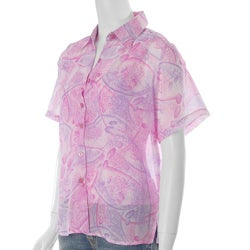 Cassee's Women's Pink 2-piece Blouse and Shell Set
