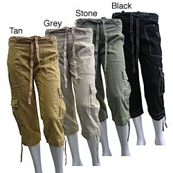ladies cargo capri pants - Pi Pants