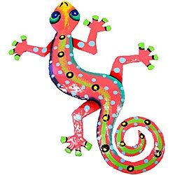 Metal 'Pink Gecko' Wall Art (Haiti)