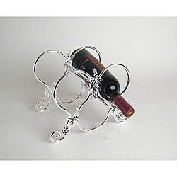 Silverplated 3-bottle Wine Holder