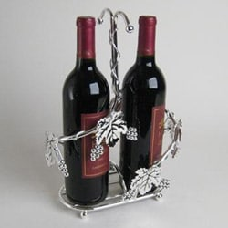 Silverplated 2-bottle Wine Holder