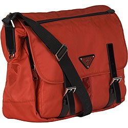 popular nylon bag leather handles - Prada \u0026#39;Vela\u0026#39; Computer Case/ Messenger Bag - 12017137 - Overstock ...