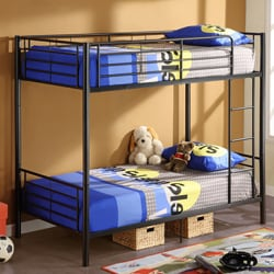 Black Metal Twin Bunk Bed