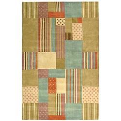 """Safavieh Handmade Patchwork Pastels N. Z. Wool Rug (7' 6"""" x 9' 6"""")"""
