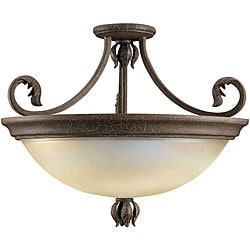 Windsor Manor 2-light Semi-flush Grecian Stone Fixture