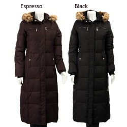 MICHAEL Michael Kors Women's Long Down Espresso Medium Coat (Open Box)