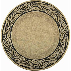Safavieh All Weather Indoor/Outdoor Tranquil Natural/Terracotta Rug (5'3 Round)