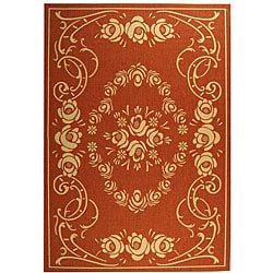 Indoor/ Outdoor Garden Terracotta/ Natural Rug (6'7 x 9'6)