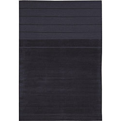 Nourison Charcoal Wool/ Silk Rug (5'6 x 8')