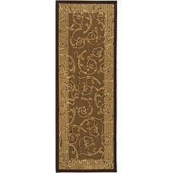 Safavieh Indoor/ Outdoor Oasis Brown/ Natural Runner (2'4 x 6'7)