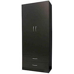 Black 2-door Wardrobe