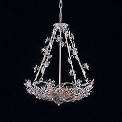 Antique White 8-light Chandelier