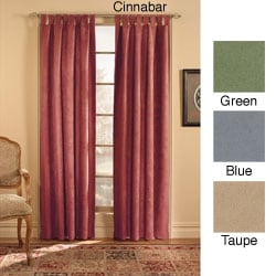 Microsuede Tab Top Curtain Panel (50 in. x 108 in.)