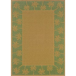 Laguna Beige and Green Rug (5'3 x 7'6)