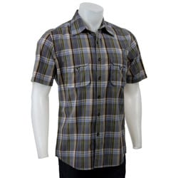 FINAL SALE Claiborne by John Bartlett Men's Plaid Short-sleeve Shirt