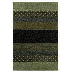 Hand-tufted Brown Wool Rug (8' x 10'6)
