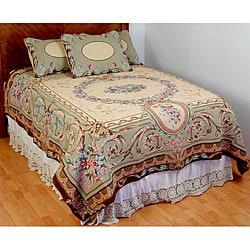 Elizabeth Sage King Size Tapestry Coverlet Set Free