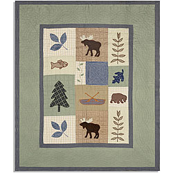 Woodland Handcrafted Quilted Throw