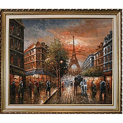 'Au Revoir to the Light of Paris II' Oil Painting on Canvas