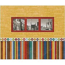 K & Company Perfect-bound 'Beep Beep Travel' Scrapbook Album