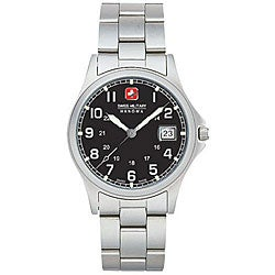 Swiss Military Men's Black Conquest Steel Watch