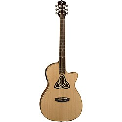 Luna Trinity Natural Parlor Cutaway Acoustic /Electric Guitar