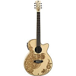 Electric Guitar Bedding on Luna Henna Oasis Spruce Acoustic  Electric Guitar   Overstock Com