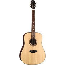 Luna 'Gypsy Muse' Acoustic Guitar with Hardshell Case