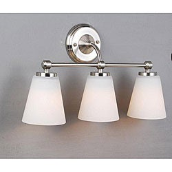 Brush Finish Satin Nickel Bathroom Triple Sconce