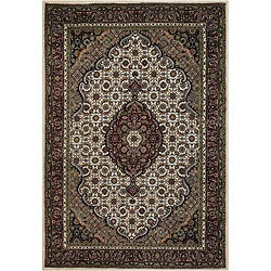 Hand-knotted Mandara New Zealand Wool Rug (5' x 7'6)