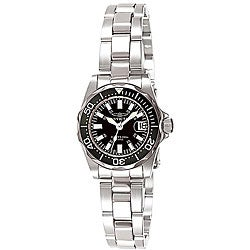 Invicta Women's Signature Stainless Steel Black Dial Watch